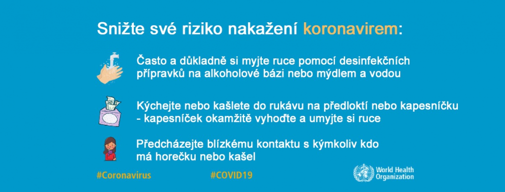 OBRÁZEK : Informace Jak snížit riziko nakažení Koronavirem